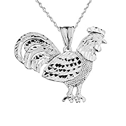 Rooster necklace for gifts for chicken lovers