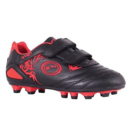 Optimum Jungen Razor Fußballschuhe, Rot (Black/red), 32 EU