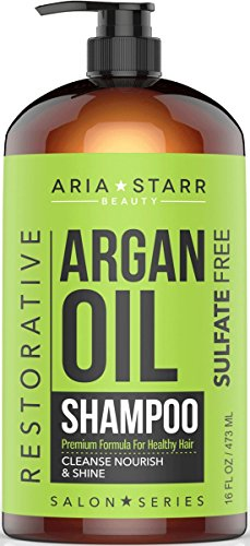 Aria Starr Argan Oil Shampoo With Keratin, Coconut, Jojoba -...