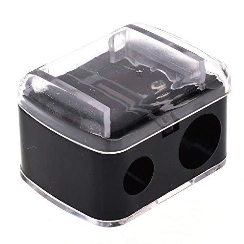 VWCDO 2 Gaten Precisie Cosmetische Potloodslijper Voor Wenkbrauw Lip Liner Eyeliner Potlood School Office Supply Gift