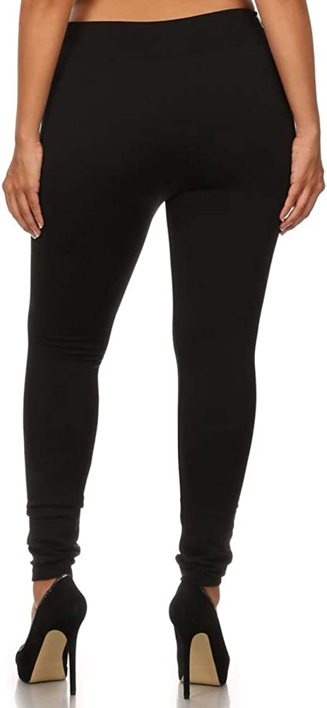 ShoSho Womens Plus Size Skinny Pants Slim Fit Trousers Treggings Pull-On Pants Leggings