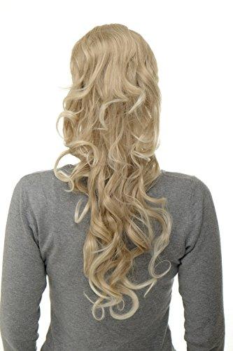 WIG ME UP - Postiche natte queue de cheval boucles volumineuses très longues 60 cm mini-pince-papillon + peigne + élastique mélange de blond WK08-24T613