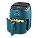 Dash Tasti-Crisp Electric Air Fryer + Oven Cooker with Temperature Control, Non-stick Fry Basket, Recipe Guide + Auto Shut Off Feature, 1000-Watt, 2.6 Quart - Teal (Renewed)