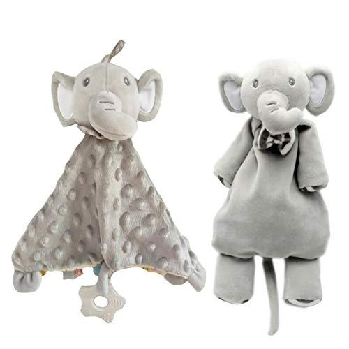 Bébé Tag Couverture de sécurité, Poupée Elephant - Bébé TAGGY Couvertures Avec Teether, Super Soft enfants en bas âge Balises Blanket meilleur cadeau pour bébé