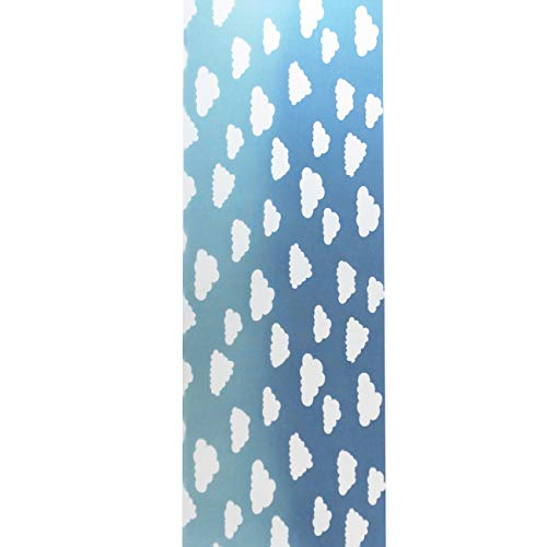 注染 手ぬぐい てぬぐい 空 雲 グラデーション 日本製 約34×90cm 綿100% 総理生地 (空と雲 ブルー)