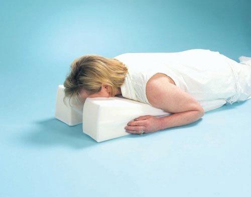 """Face Down Pillow 17"""" x 14"""" x 6"""" > 2.5"""""""