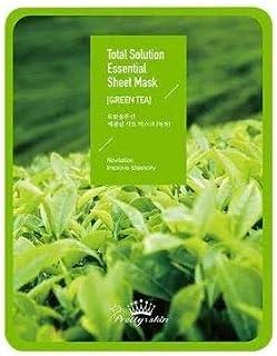 [Prettyskin] Total Solution Essential Sheet Mask Greentea (5ea)