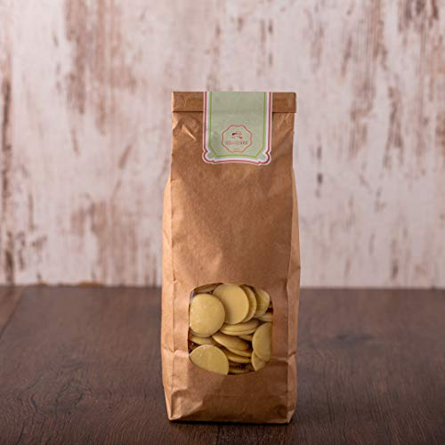 süssundclever.de® Bio Kakaobutter Chips | 1 kg | Premium Qualität: hochwertiges Naturprodukt, unbehandelt, ungezuckert