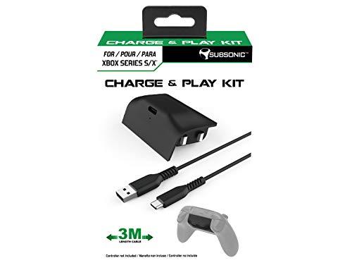 Subsonic - Kit de charge - Batterie et câble USB C de 3 mètres pour manette Xbox serie X