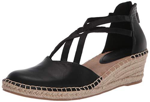 Kenneth Cole REACTION Women's Espadrille Wedge Pump, Black, 6.5