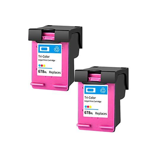 SXCD Cartuchos De Tinta 678XL para HP,reemplazo para La Ventaja De Tinta HP DeskJet 1516 1518 2510 2645 2646 2648 4516 4518 4645 Impresora De Inyección Rendimiento Tri-co 2~Color