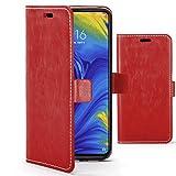 Forefront Cases Funda De Teléfono Premium para Xiaomi Mi Mix 3 | Fabricado y Cosido A Mano | Billetera y Diseño Multifuncional | Protección Doble contra Golpes y Caídas | Rojo