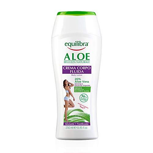 Equilibra Corpo, Aloe Crema Corpo Fluida, Crema Corpo a Base di Aloe Vera, Idratante e Tonificante,...