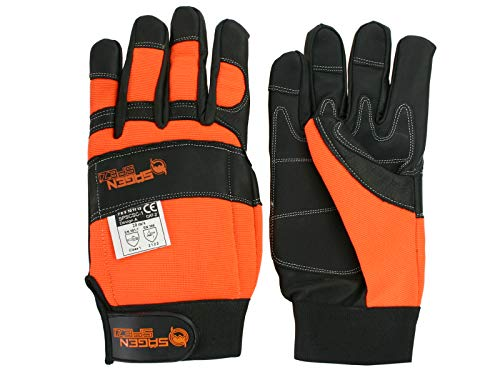 Sägenspezi Schnittschutz Sägenspezi - Handschuhe Größe L / 10 - Forsthandschuh für Motorsäge/Kettensäge