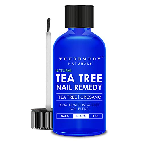 Remedy Tea Tree Oil Nail Blend with Oregano Oil - 1 Oz | EXTRA STRONG Natural Toenail Treatment | Nail Repair Kit for Athletes Foot, Thick, Dull, Discolored, Cracked, Yellow & Weak Nails