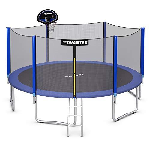 Giantex Trampoline, 10Ft 12Ft 14Ft 15Ft 16Ft Enclosed Trampoline...