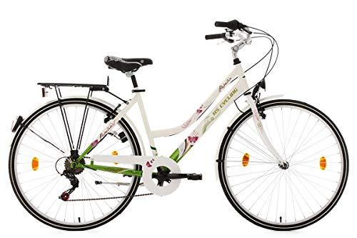 KS Cycling Papilio Vélo de Ville Blanc 26'