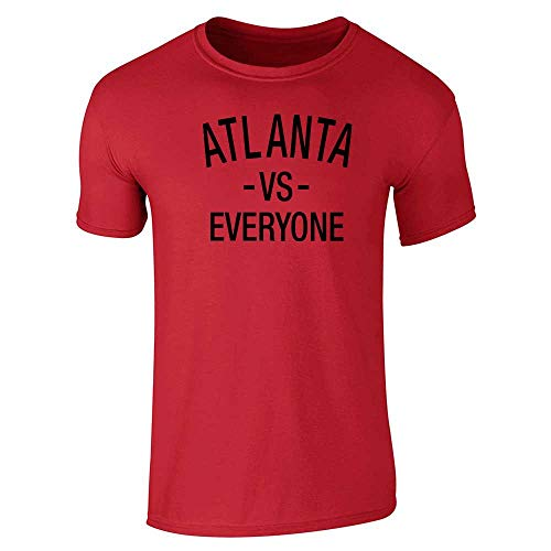 Atlanta vs Everyone Sports Fan Red L Graphic Tee T-Shirt for Men