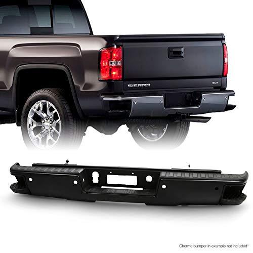 Fits 2014-2018 Chevy Silverado/GMC Sierra 1500 Black Rear Step Bumper w/Sensor Holes w/Conner Step Hole Accessories