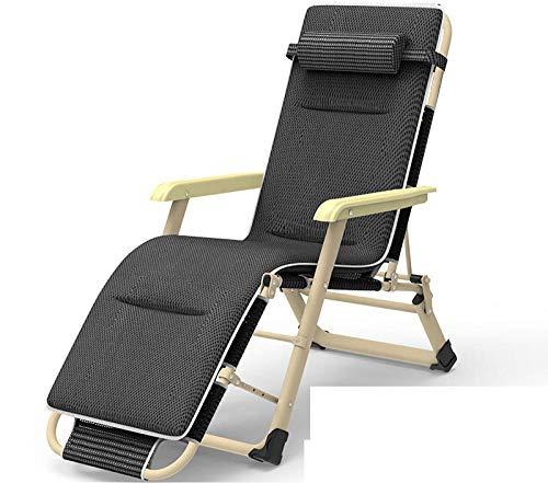 ALL-JingHong Sonnenliege verstellbar Klappbare Wellnessliege erhältlich Grau JH-320
