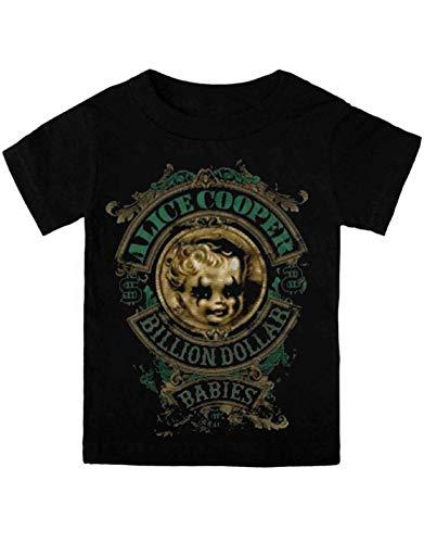Alice Cooper Billion Dollar Baby offiziell Schwarz Toddler Shirt Ages 3-24