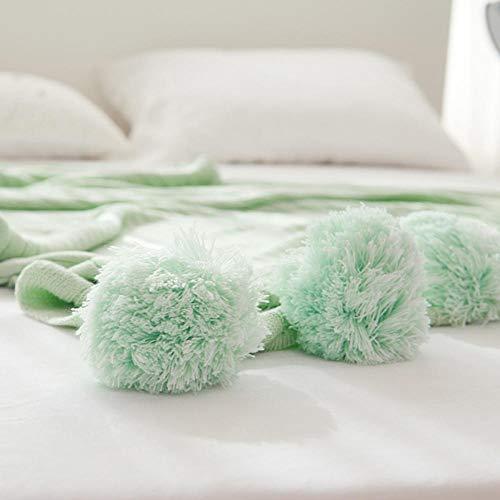 Amosiwallart Manta - Muchos tamaños y Colores Diferentes - Manta de Microfibra Manta para Sala de Estar Manta para Cama - Fibra Polar de Microfibra de Franela -Manzana Verde_150cmx200cm1.45kg