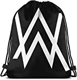 YeeATZ Alan Walker Drawstring Backpack,Sackpack String Bag Cinch Water Resistant Nylon Beach Bag for Gym Shopping Sport Yoga