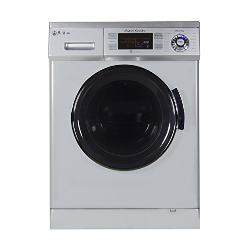 Compact Combo Washer and Electric Dryer with Optional Condensing/Venting and Sensor Dry in Silver