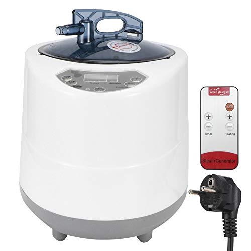 Generador de vapor para sauna, generador de sauna portátil de 2.8L 1500W con control remoto, para tienda de spa, terapia corporal, máquina de fumigación, terapia de vapor para el hogar, EU 220V
