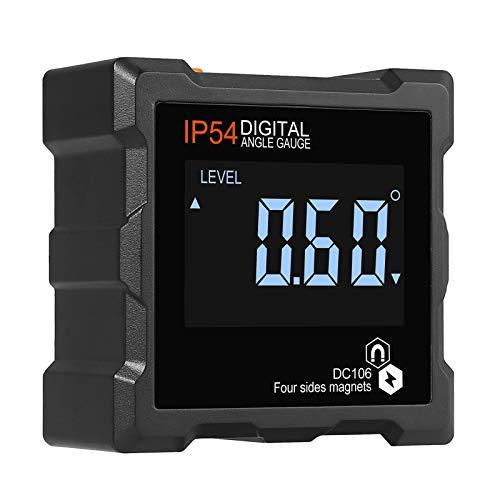Digital Level Box LCD Winkelmesser IP54 Wasserdicht mit Allseitig magnetisch Hintergrundbeleuchtung Neigungsmesser für Holzarbeiten, Bauwesen, Automobilwartung Industrie (Batterie enthalten)