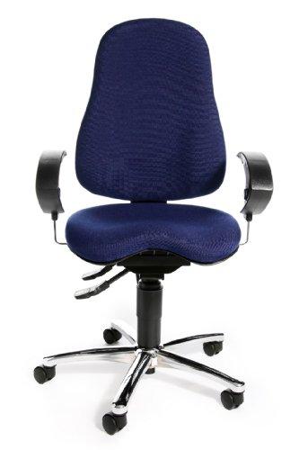 Topstar SI59UG26, Sitness 10 ergonomischer Bürostuhl, Schreibtischstuhl, inkl. höhenverstellbaren Armlehnen, Bezugsstoff blau