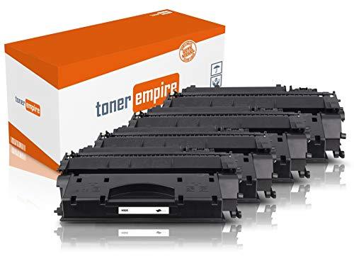 TE Premium toner zwart compatibel met HP CE505 voor HP Laserjet P2055D / P2055DN / P2055 X laserprinter (3) 4 x toner (CE505A).
