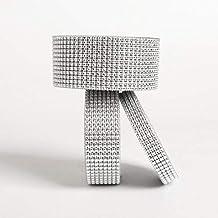 MZJJ 1 roll 1M 2 to 12CM Bling Diamond mesh Wrap Ribbon Silver Rhinestone Mesh Roll Tape Tulle Crystal Ribbon Cake Wedding...