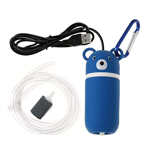 Uayasily USB Oso Impermeable Oxígeno Bomba De Aire Generador De Oxígeno Fish Tank Piscina Aire Libre Estanque
