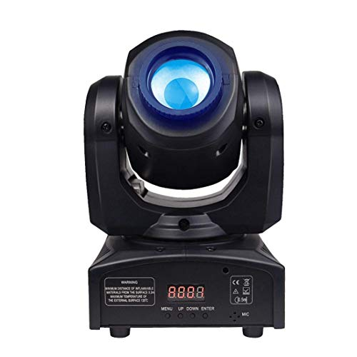 Moving Heads DJ Lighting, 35W 8 Colors LED Spot Lighting,8 gobos 9/11 Channel Effect Wash Lights for Disco Club Wedding Party Sound/Auto/DMX512/Master-slave Controlled