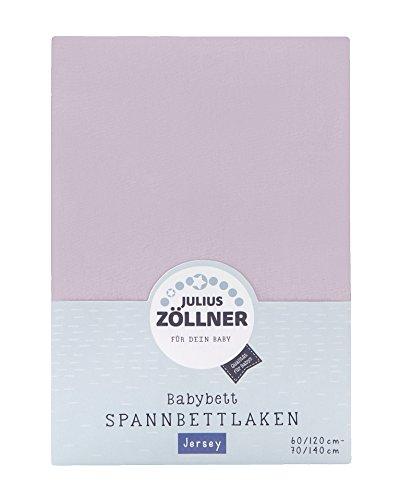 Julius Zöllner 8320147760 - Spannbetttuch Jersey für das Kinderbett, Größe: 60x120 / 70x140 cm, Farbe: flieder