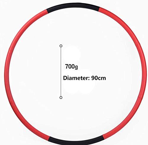WXFGR Hula Hoop Weighted Hula Hoop - Heavy Fitness Hoop - Perdita di Peso Allenamento Attrezzature Facile da Usare Esercizio Hoop - Divertimento Modo Semplice for Allenamento (Size : 90CM)