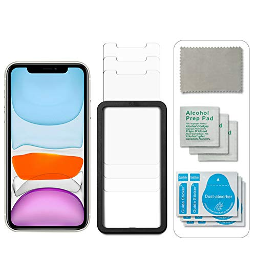 unbreakcable panzerglas iphone 11 [3 Stück] Schutzfolie kompatible mit iPhone 11 und iPhone XR, mit Positionierhilfe,Anti-Kratzen, Anti-Öl, Anti-Bläschen, Hülle Freundllich, 2.5D Runde Kante