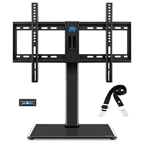 Mounting Dream Universal TV Stand - Table Top TV Stands for 42-60 Inch LCD LED TVs, 4 Height Adjustable TV Base Stand with Tempered Glass Base and Anti-tip Strap, Max VESA 600x400mm 99 LBS, MD5109-KD