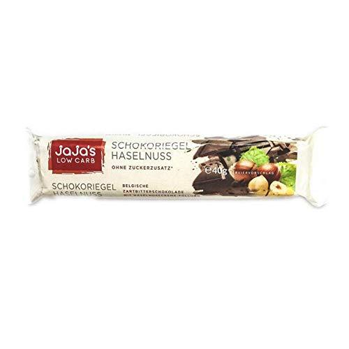 jaja\'s Low Carb Schokolade-Riegel mit Haselnusscreme-Füllung, 10er Pack, VEGAN, ohne Gluten und Laktose