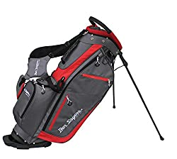 """The Ben Sayers XF Lite stand bags feature an 8. 5"""" top cuff with a 14-way, graphite-friendly divider system and a high-quality integrated stand mechanism The bags are made from a lightweight and highly durable Material to reduce weight. As a result, ..."""