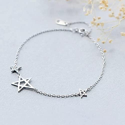 QiuYueShangMao Pulsera Pulseras de circonita con Estrella de mar, joyería, Cadena geométrica, Pentagrama, Pulsera de Estrella de David, Brazalete para Mujer Pulsera de la Amistad