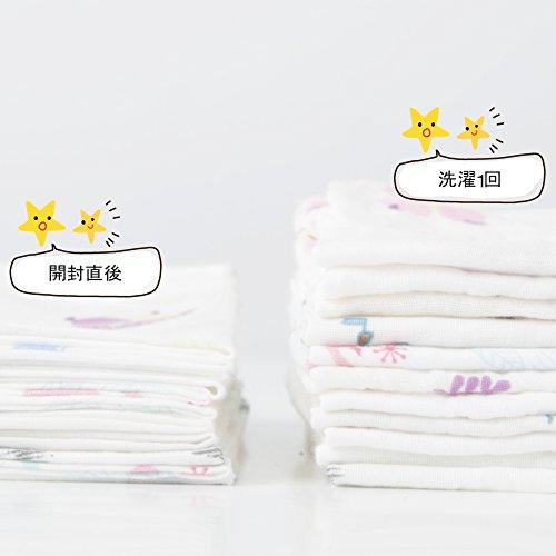 ガーゼハンカチ ガーゼタオル 赤ちゃん ガーゼ ベビービブ - ダブルガーゼハンカチ 沐浴布 綿100