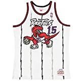 Vince Carter Toronto Raptors Mitchell and Ness Men's White Throwback Jesey Large