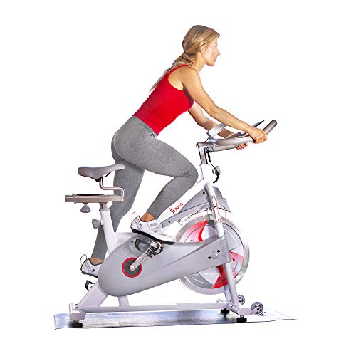 Sunny Health & Fitness Magnetic Belt Drive Premium Indoor Cycling Bike - SF-B1876
