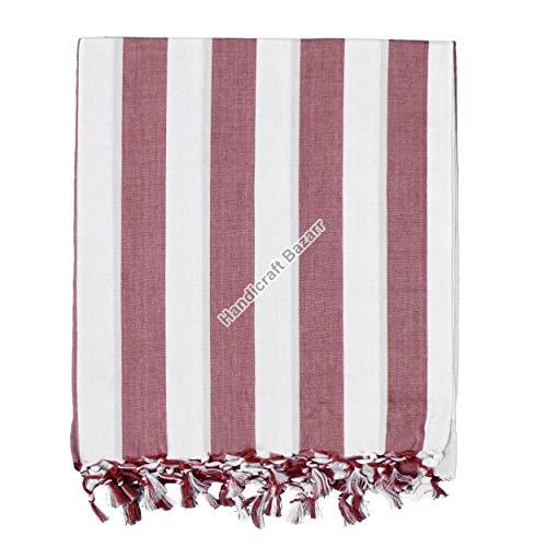 Handicraft Bazarr Tapiz de algodón para cama, cobertores tradicionales para dormir, colcha vintage de 226 x 127 cm, edredones étnicos de verano