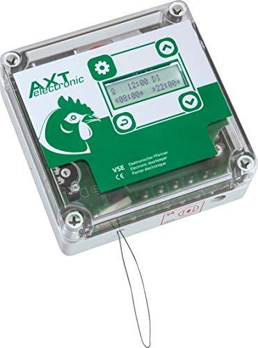AXT-Electronic VSE - Elektronischer Pförtner für Hühnerklappe, Wochenendfunktion, Dämmerungsverzögerung, Displ. Bel