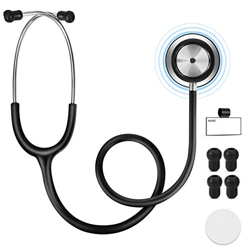 Liwin Dual Head Stethoscope for Medical and Home, Professional Clinical Grade 28 Inch Stethoscope, Gift for Nurses, Doctors, Medical Students, Lightweight Design (Black)
