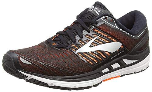 Brooks Transcend 5, Scarpe da Running Uomo, Multicolore (Black/Orange/Silver 092), 44 EU