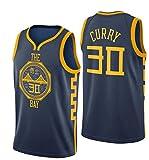 Angel ZYJ Camiseta de Baloncesto para Hombres - Warriors Golden State # 30 Stephen Curry Camiseta de Baloncesto Unisex Sportswear Camiseta (Royal Blue - Edición City, L)